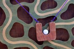 Climbing ball race maze game Stock Photo