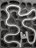 Climbing ball race maze game Stock Photography