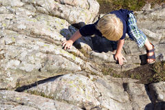 Climbing boy Royalty Free Stock Image