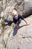 Climbing boy Royalty Free Stock Photo