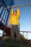 Climbing boy Stock Photo