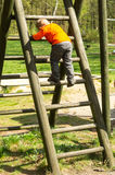 Climbing boy Stock Image