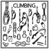 Climbing,camping and exploration  icons set Royalty Free Stock Photography