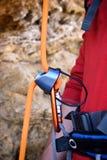 Climbing carabiner Stock Image
