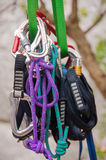 Climbing carabiners Royalty Free Stock Images
