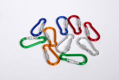 Climbing carabiners Stock Photos