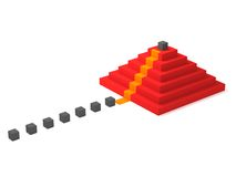 Climbing the career ladder. Career or leadership concept. Climbing to the top of the pyramid Royalty Free Stock Images