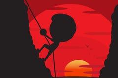 Climbing cartoon design Royalty Free Stock Photos
