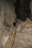 Climbing in a Cave, Railay Beach, Krabi, Thailand Stock Photos