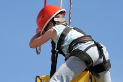 Climbing child Royalty Free Stock Images
