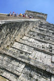Climbing Chitchen Itza Stock Photography