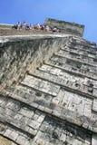 Climbing Chitchen Itza stock photography