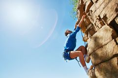 Climbing cliff Royalty Free Stock Images
