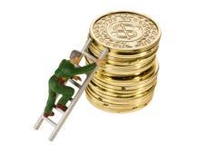 Climbing Coins Stock Photography