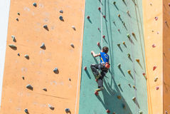 Climbing competition Royalty Free Stock Photo
