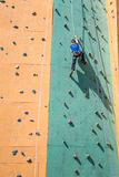 Climbing competition Stock Photography