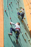 Climbing competition Royalty Free Stock Photos