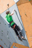 Climbing competition Stock Photo