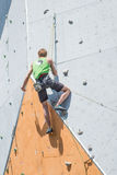Climbing competition Royalty Free Stock Photography