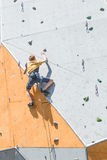 Climbing competition Stock Images