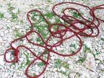Climbing cord Royalty Free Stock Photos