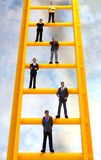 Climbing the Corporate Ladder Stock Photo