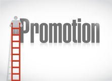 Climbing the corporate ladder. promotion Royalty Free Stock Images