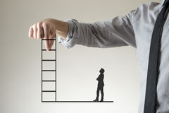 Climbing the corporate ladder to success Stock Images