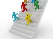 Climbing The Corporate Ladder Stock Photos