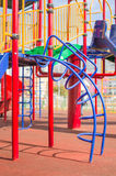Climbing and crawling constructions on playground Stock Image