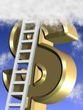 Climbing dollar Royalty Free Stock Photo