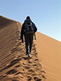 Climbing the dune Royalty Free Stock Images
