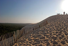 Climbing Dune du Pyla, Gironde Royalty Free Stock Photography