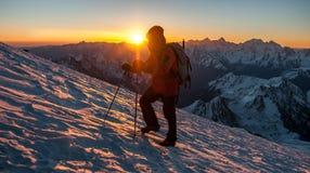 Ascension, mountain, slope, snow, rise, glacier stock photo