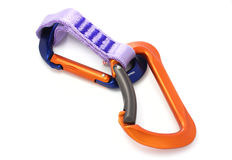 Climbing equipement - two carabiners Stock Images