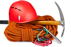 Climbing equipment Stock Photos