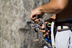 Climbing equipment Royalty Free Stock Images