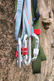 Climbing equipment royalty free stock image