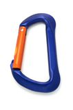 Climbing equipment - carabiner lock royalty free stock images