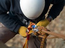 Climbing equipment close-up Stock Photography