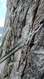 Belay station Stock Images