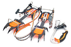 Climbing equipment - crampon, ascender Stock Photos