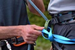Climbing equipment Stock Photos