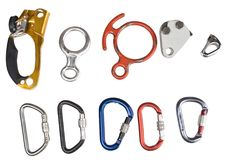 Climbing equipment set. Royalty Free Stock Image