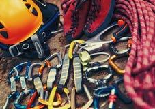 Climbing equipment Royalty Free Stock Photos