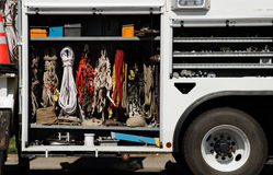 Climbing equipment in truck Stock Photography