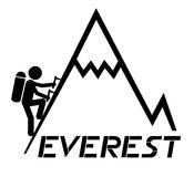 Climbing Everest Stock Images