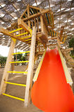 Climbing frame in a childrens play area Royalty Free Stock Image