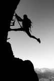 Climbing is fun Royalty Free Stock Photography