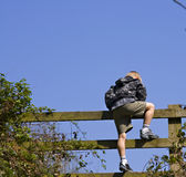 Climbing gate Royalty Free Stock Images